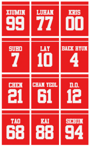 EXO Numbers