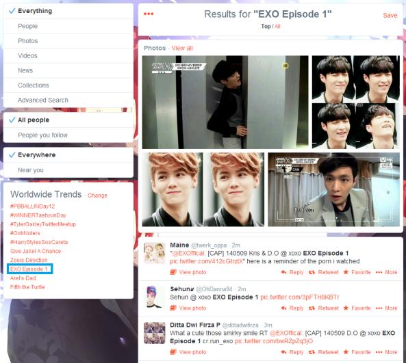 EXO episode 1 trend #2