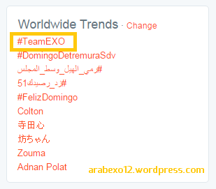 TeamEXO WWtrends